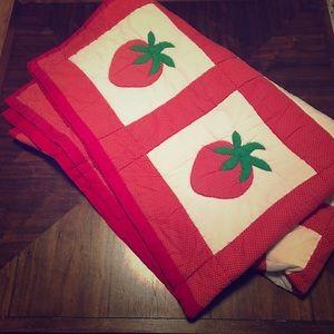 Handmade Strawberry Quilt